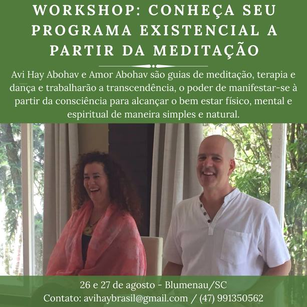 Workshop: Conheça seu Programa Existencial a partir da Meditação